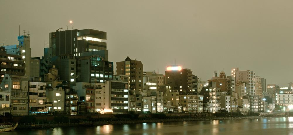 Houses on sumida river